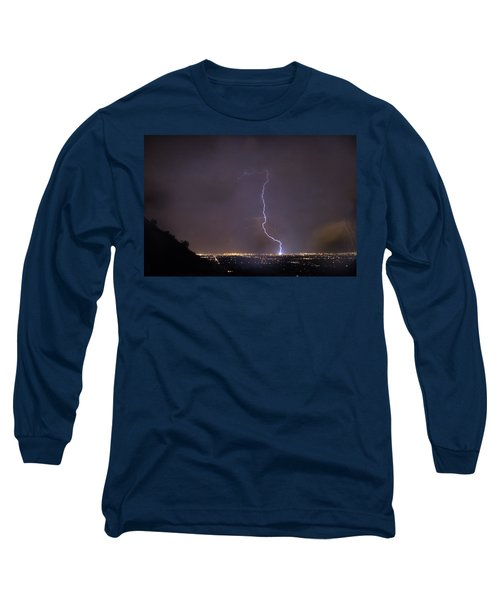 Long Sleeve T-Shirt featuring the photograph It's A Hit Transformer Lightning Strike by James BO Insogna