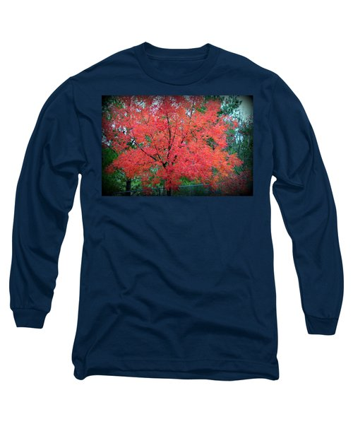 Long Sleeve T-Shirt featuring the photograph Tree On Fire by AJ Schibig