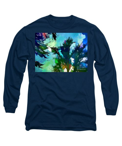 Tree Spirit Abstract Digital Painting Long Sleeve T-Shirt