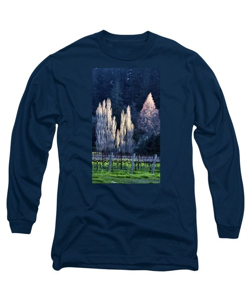 Trees In Fall Napa Valley Long Sleeve T-Shirt by Josephine Buschman