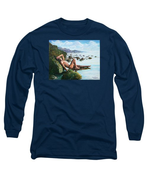 Trevor On The Beach Long Sleeve T-Shirt