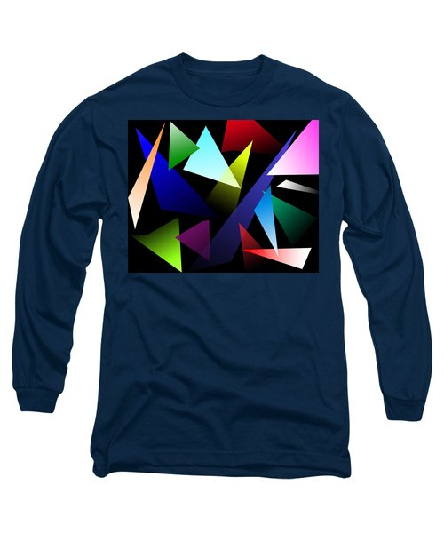 Triangles Long Sleeve T-Shirt by David Stasiak