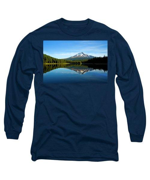 Trillium Lake Mt Hood Fall Long Sleeve T-Shirt