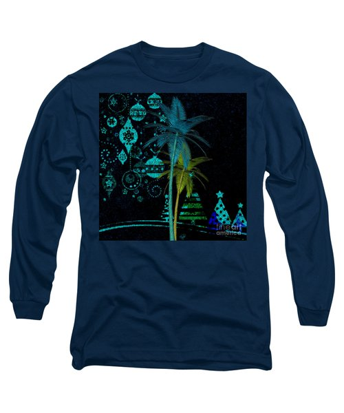 Tropical Holiday Blue Long Sleeve T-Shirt