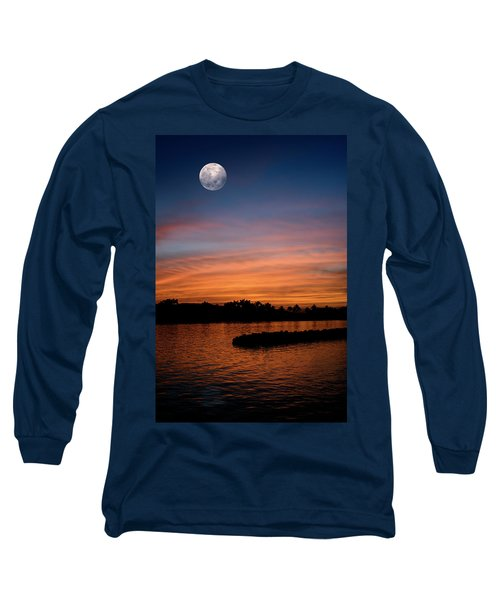 Long Sleeve T-Shirt featuring the photograph Tropical Moon by Laura Fasulo