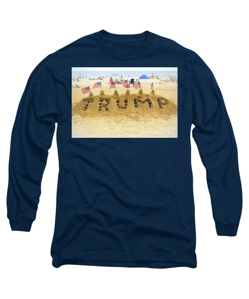 Long Sleeve T-Shirt featuring the photograph Trump - Sandcastle by Colleen Kammerer