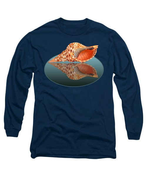Trumpet Triton Reflection Long Sleeve T-Shirt by Gill Billington