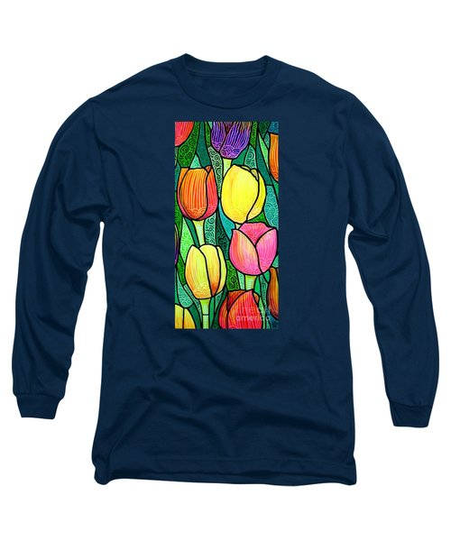 Long Sleeve T-Shirt featuring the painting Tulip Expo by Jim Harris