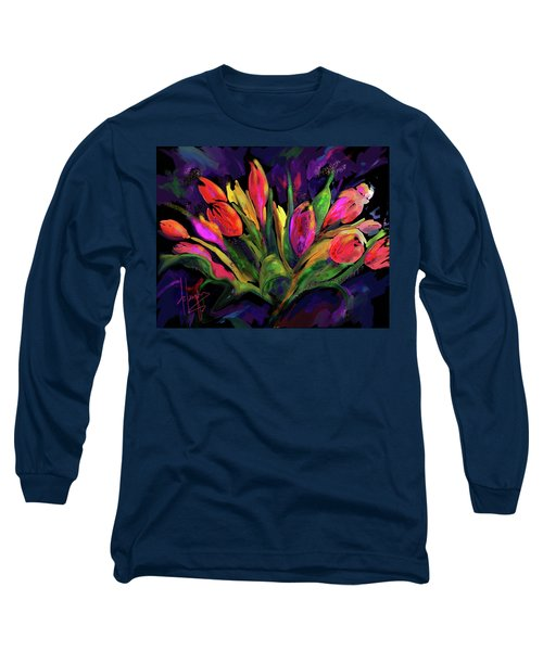 Tulips Long Sleeve T-Shirt by DC Langer