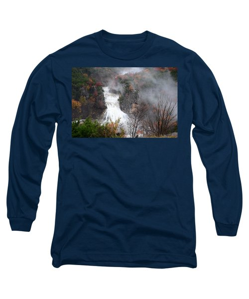 Turner Falls And Steam Long Sleeve T-Shirt