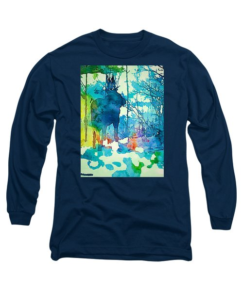Turquoise Moose Long Sleeve T-Shirt by Jan Amiss Photography