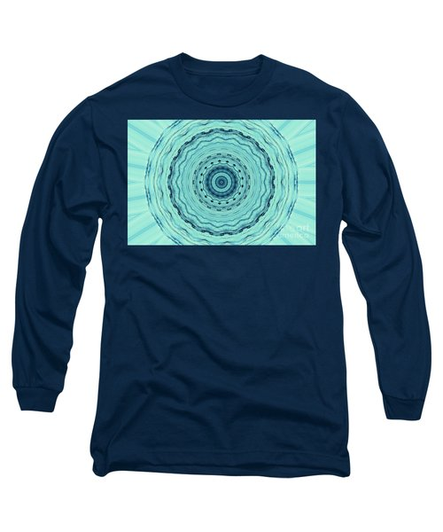 Turquoise Serenade Long Sleeve T-Shirt by Sheila Ping