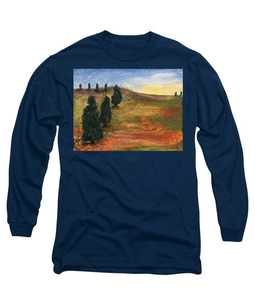 Long Sleeve T-Shirt featuring the pastel Tuscan Lights by Norma Duch