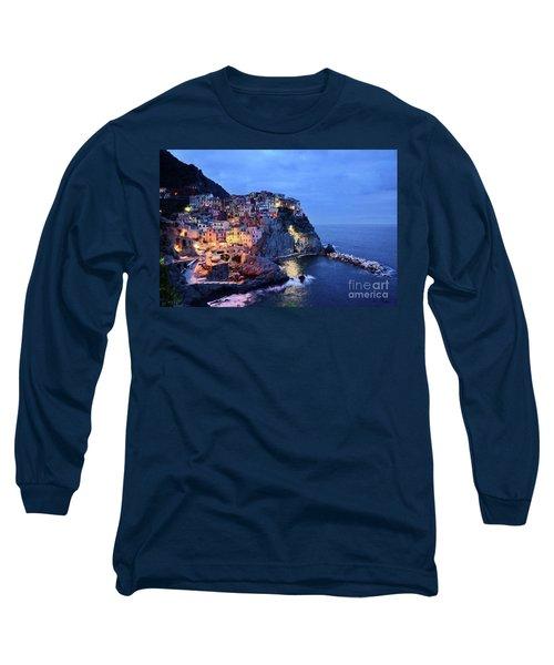 Tuscany Like Amalfi Cinque Terre Evening Lights Long Sleeve T-Shirt