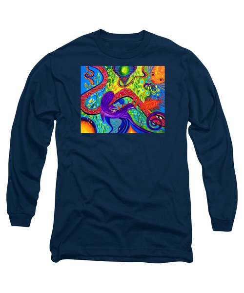 Long Sleeve T-Shirt featuring the painting Undersea Adventure by Marina Petro