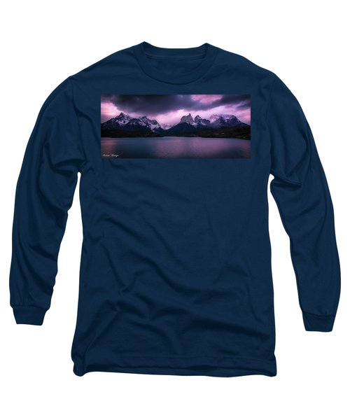 Twilight Over The Lake Long Sleeve T-Shirt by Andrew Matwijec