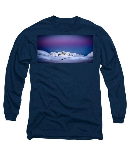 Twilight Glow, Iceland Long Sleeve T-Shirt