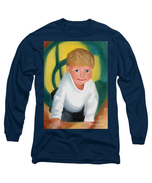Long Sleeve T-Shirt featuring the painting Two And A Half by Patricia Cleasby