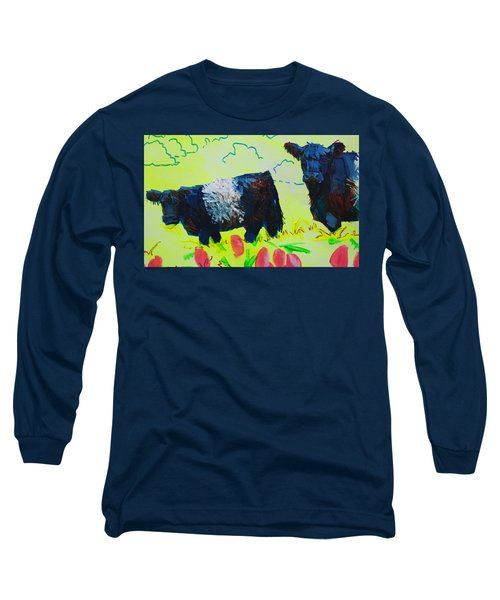 Two Belted Galloway Cows Looking At You Long Sleeve T-Shirt