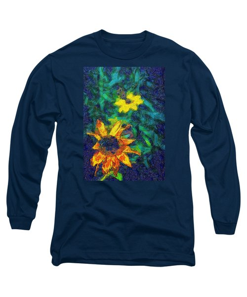Two Flowers Long Sleeve T-Shirt by Carlee Ojeda