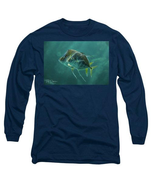 Two In Turquoise Long Sleeve T-Shirt