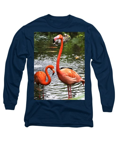 Two Pink Flamingo's Long Sleeve T-Shirt