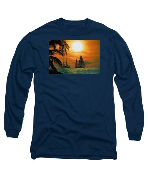 Two Ships Passing In The Night Long Sleeve T-Shirt