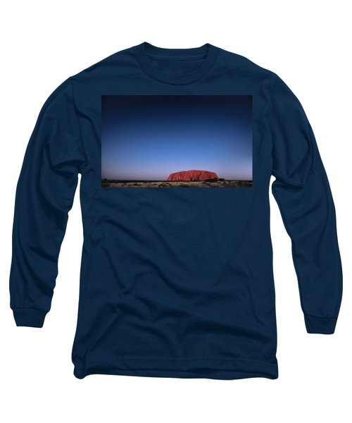 Long Sleeve T-Shirt featuring the photograph Uluru Starry Night by Chris Cousins