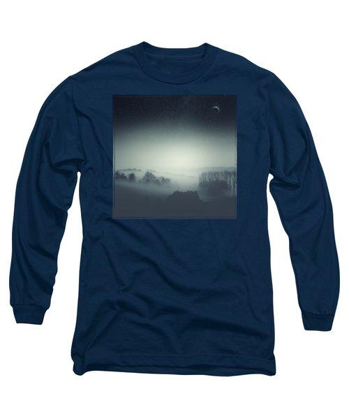 Underlying Tension - Monochrome Rural Landscape Long Sleeve T-Shirt