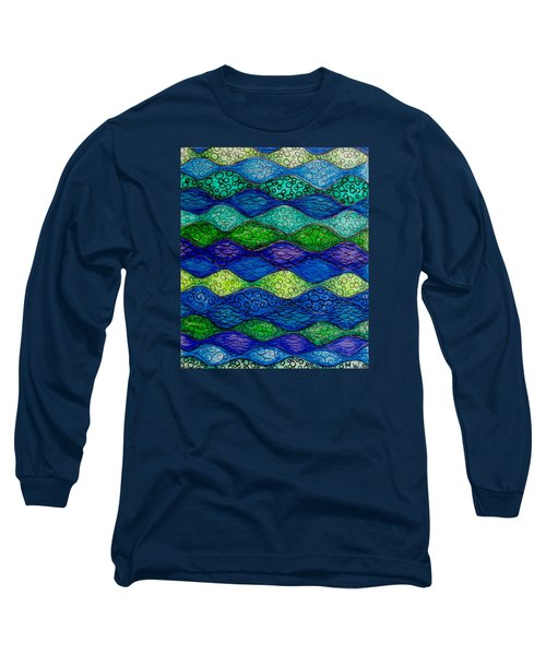 Underwater Abstract 1 Long Sleeve T-Shirt by Megan Walsh