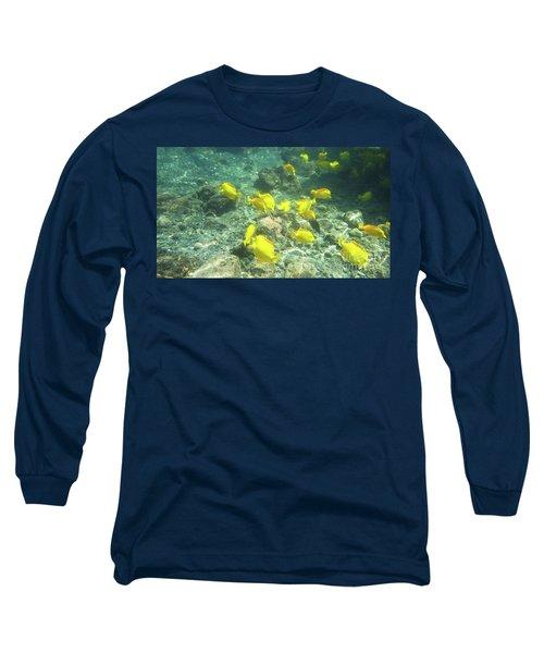 Underwater Yellow Tang Long Sleeve T-Shirt