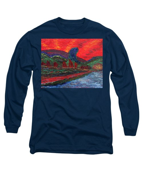 Undiscovered Great Ocean Of Truth Long Sleeve T-Shirt by Vadim Levin