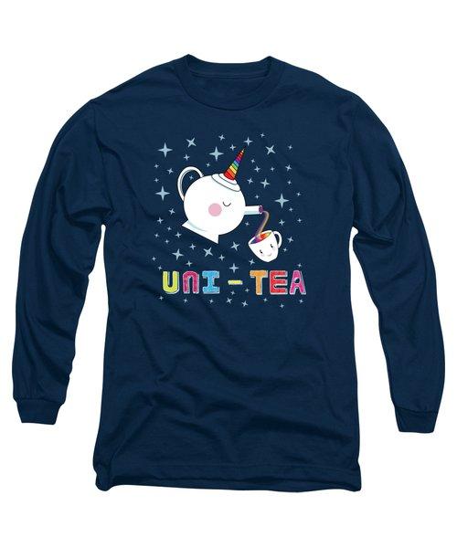 Unitea  Cute Unity Rainbow Tea Pot And Cup Long Sleeve T-Shirt