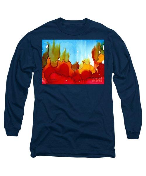 Up In Flames Long Sleeve T-Shirt by Yolanda Koh