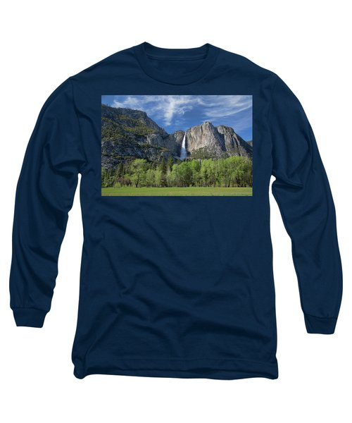 Upper Yosemite Falls In Spring Long Sleeve T-Shirt