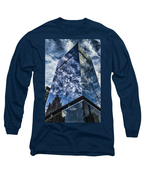 Urban Clouds Reflecting  Long Sleeve T-Shirt