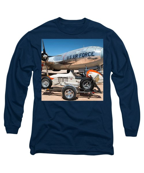 Us Air Force Airplane And Race Car  Long Sleeve T-Shirt