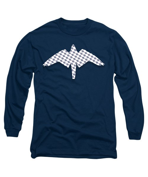Us Airforce Style Insignia Pattern Diag Version Long Sleeve T-Shirt