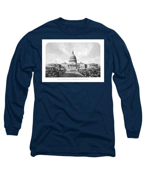 Us Capitol Building - Washington Dc Long Sleeve T-Shirt