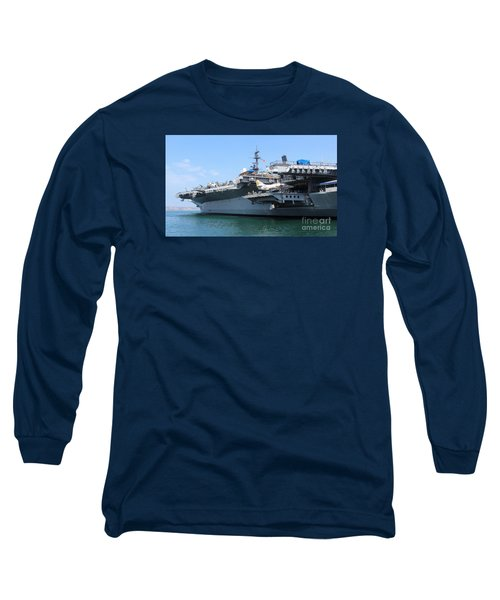 Uss Midway Carrier Long Sleeve T-Shirt by Cheryl Del Toro