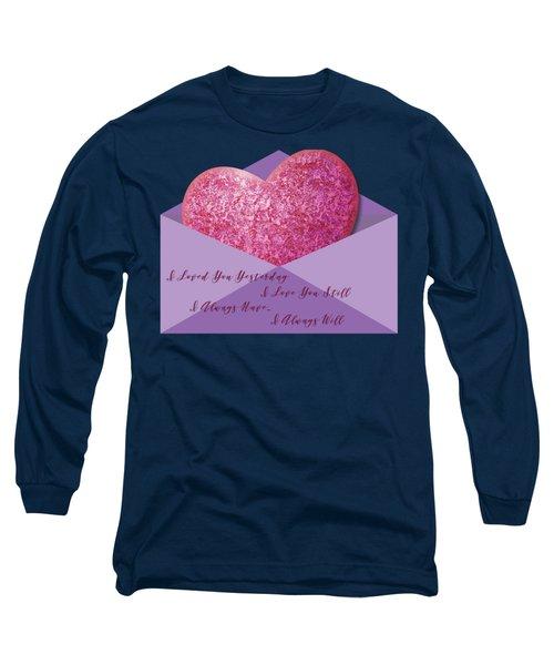 Valentine 05 Long Sleeve T-Shirt by Ericamaxine Price