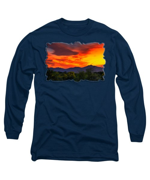 Valley Sunset H32 Long Sleeve T-Shirt by Mark Myhaver
