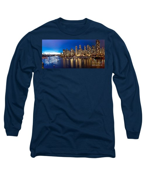 Vancouver Skyline Long Sleeve T-Shirt by Rod Jellison