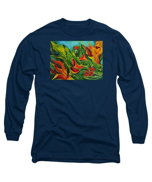 Long Sleeve T-Shirt featuring the painting Variation by Teresa Wegrzyn