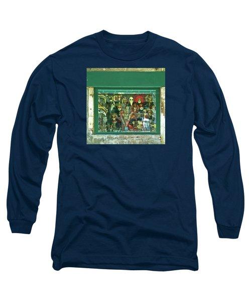 Long Sleeve T-Shirt featuring the photograph Venetian Masks by Anne Kotan