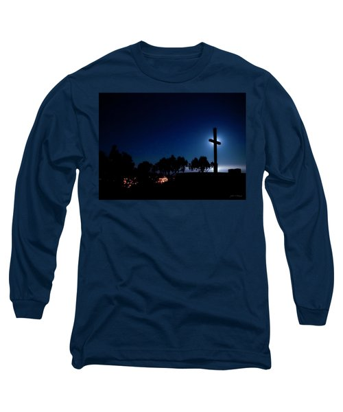 Ventura Ca Cross At Moonset Long Sleeve T-Shirt