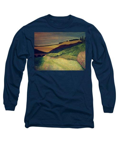 Vetheuil At Dawn Long Sleeve T-Shirt