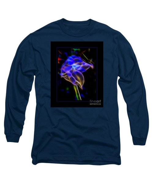 Vibrant Orchid Long Sleeve T-Shirt by Darleen Stry