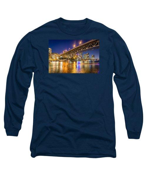 View At Granville Bridge Long Sleeve T-Shirt by Sabine Edrissi