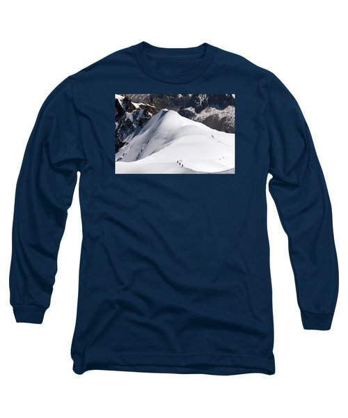 View From Aguille Du Midi Long Sleeve T-Shirt